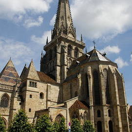 Christiane Schulze Art And Photography - Autun Cathedral View Burgundy