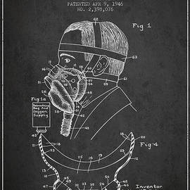 Aged Pixel - Aviation Mask Patent from 1946 - Charcoal