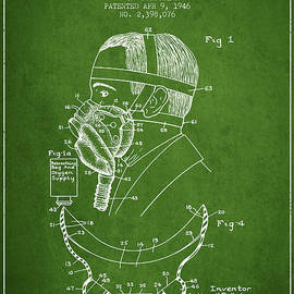 Aged Pixel - Aviation Mask Patent from 1946 - Green