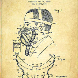 Aged Pixel - Aviation Mask Patent from 1946 - Vintage