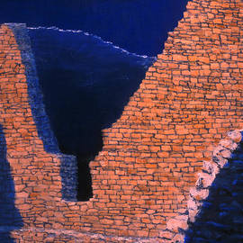 Jerry McElroy - Aztec Moon in Paint