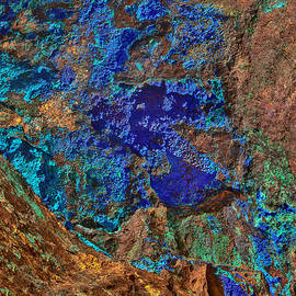 Bob and Nadine Johnston - Azurite a Natural Abstracts In Nature