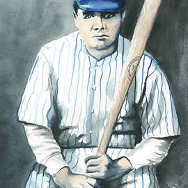 Kyle Gray - Babe Ruth Watercolor 1