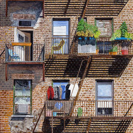Stuart B Yaeger - Back alley view greenwich vlg