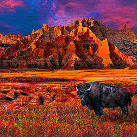 Michele  Avanti - Badlands Bison American Icon