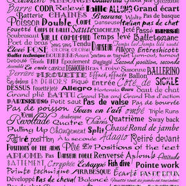 Ballet Terms Black On Pink