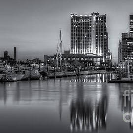 Clarence Holmes - Baltimore Inner Harbor East Skyline at Dawn Panoramic II