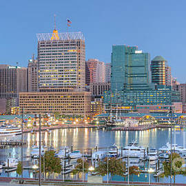Clarence Holmes - Baltimore Inner Harbor Skyline at Dawn Panoramic I