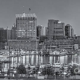 Clarence Holmes - Baltimore Inner Harbor Skyline at Dawn Panoramic II