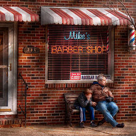 Mike Savad - Barber - Metuchen NJ - Waiting for Mike