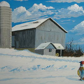 Norm Starks - Barn and Pheasant