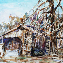 Xueling Zou - Barn by the Tree