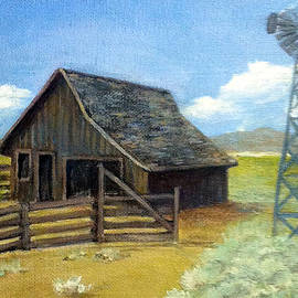 Judie White - Barn with Windmill
