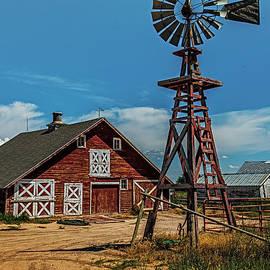 Paul Freidlund - Barn with Windmill
