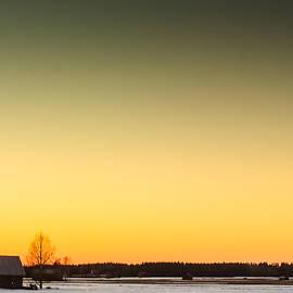 Jukka Heinovirta - Barns In The Spring Sunset