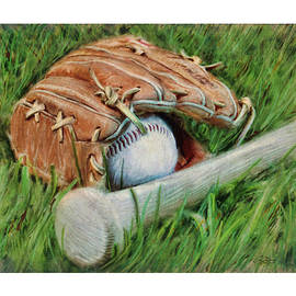 Craig Tinder - Baseball Glove Bat and Ball