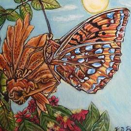 Kimberlee  Baxter - Basking in the Warmth of the Sun in a Tropical Paradise Painting