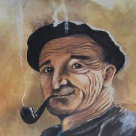 Cathy Long - Basque Man With Pipe
