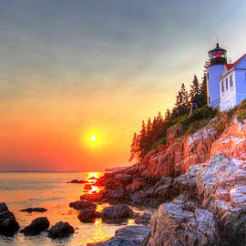 Peggy Berger - Bass Harbor Head light house at sunset II