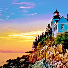 Bob and Nadine Johnston - Bass Harbor Light Acadia NP