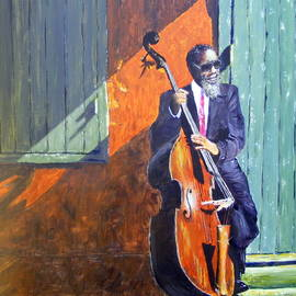 Barbara Jacquin - Bass player in New Orleans