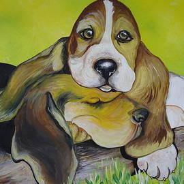 Leslie Manley - Bassett Hound Pups