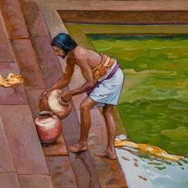 Dominique Amendola - Bath time in south India