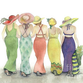 Nan Wright - Beach Babes in Coverups and Hats ready for a day in the sun