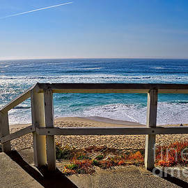 Kaye Menner - Beach Fence Ocean View by Kaye Menner