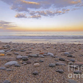 Charline Xia - Beach with Sunset Clouds