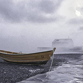 Marty Saccone - Beached Dory In Sub Zero Sea Smoke