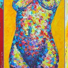 Ana Maria Edulescu - Beauties - Triptych - Abstract Colorful Nudes