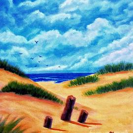 Annie Zeno - Beautiful Beach Day Painting