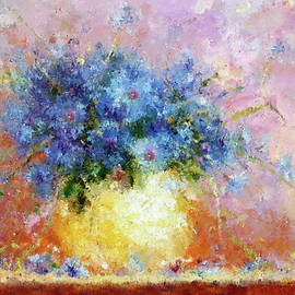 Georgiana Romanovna - Beautiful Cornflower Expressionism