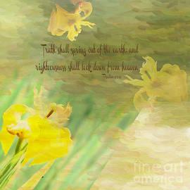 Beverly Guilliams - Beautiful Iris Garden w Scripture
