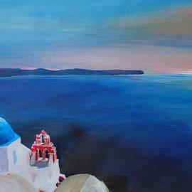 M Bleichner - Beautiful Santorini Sunset in Oia Greece