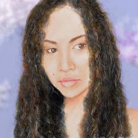Jim Fitzpatrick - Beautiful Thai  Artist and Model Dao II Version II