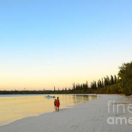 David Hill - Beautiful tropical bay beach and sunset - Ile des Pin - New Caledonia - South Pacific