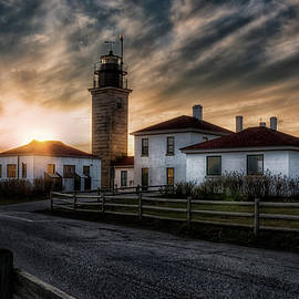 Joan Carroll - Beavertail Lighthouse Sunset