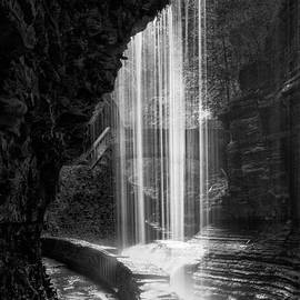 Bill  Wakeley - Behind The Falls Black And White Square