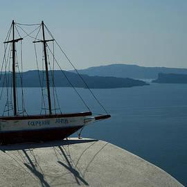 Colette V Hera  Guggenheim  - Bella Santorini ancient Boat Greece