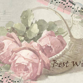 Sandra Foster - Best Wishes Vintage Roses Card