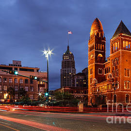 Silvio Ligutti - Bexar County Courthouse and Tower Life Building Main Plaza - San Antonio Texas