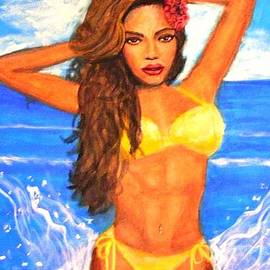 Larry E Lamb - Painting of Beyonce
