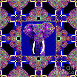Wingsdomain Art and Photography - Big Elephant Abstract Window 20130201m118
