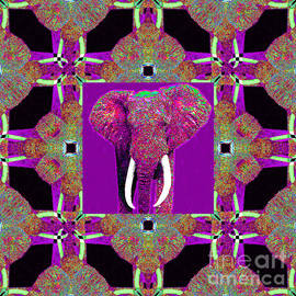 Wingsdomain Art and Photography - Big Elephant Abstract Window 20130201m68