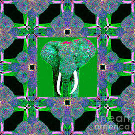 Wingsdomain Art and Photography - Big Elephant Abstract Window 20130201p128