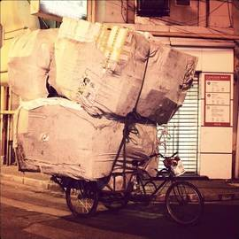 Sarah Walsh - #bike #delivery #overload #heavy