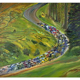 Impressionism Modern and Contemporary Art  By Gregory A Page - Bike Race