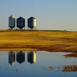 Jeff  Swan - Bins Reflecting Off The Water